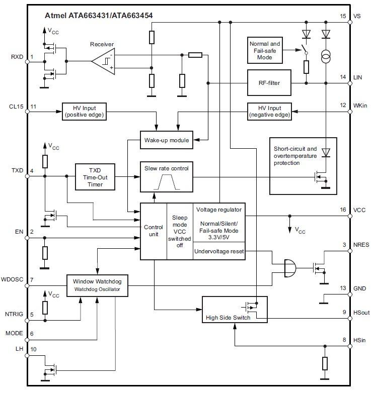 Блок-схема. ATA663454, 4-е